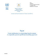 Egypt From stabilization to a knowledge-based economy A computable general equilibrium modelling approach cover