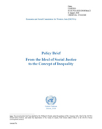 Policy Brief: From the Ideal of Social Justice to the Concept of Inequality cover