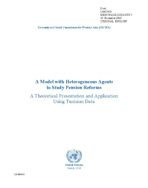 A Model with Heterogeneous Agents to Study Pension Reforms: A Theoretical Presentation and Application using Tunisian data cover