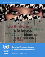 Social and Economic Situation of Palestinian Women and Girls: July 2014 – June 2016 cover
