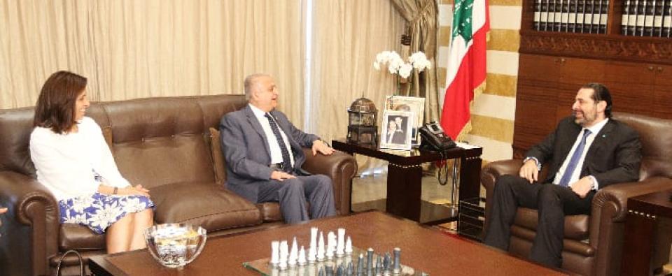 لقاء الأمين التنفيذي مع رئيس الوزراء اللبناني المكلف سعد الحريري