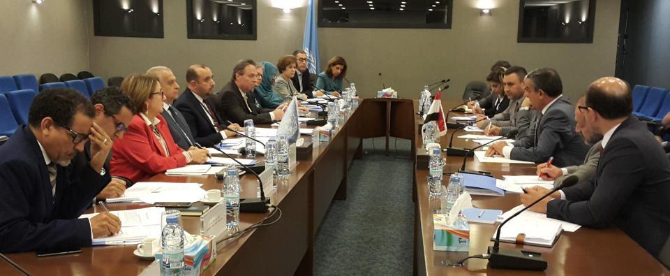فريق الإسكوا في اجتماعه مع الوفد العراقي