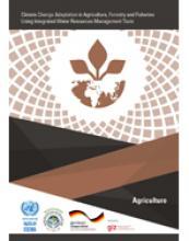 التكيف مع تغير المناخ في قطاع الزراعة والغابات ومصائد الأسماك عبر تطبيق أدوات الإدارة المتكاملة للموارد المائية غلاف (بالإنكليزية)