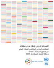 النموذج الأولي لإطار عربي مشترك لكفاءات الكوادر العلیا في القطاع العام من منظور السیاسات العامة وخطة التنمیة المستدامة 2030 غلاف