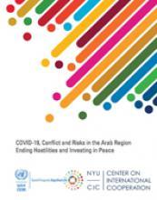 كوفيد -١٩، الصراع والمخاطر في المنطقة العربية غلاف (بالإنكليزية)