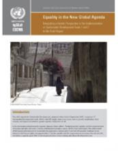 Equality in the New Global Agenda: Integrating a Gender Perspective in the Implementation of Sustainable Development Goals 1 and 2 in the Arab Region cover