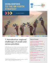 استجابة الاسكوا لاستراتيجية الأمم المتحدة للشباب، نشرة التنمية الاجتماعية، المجلد 7، العدد 2 غلاف (بالإنكليزية)
