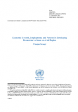 Economic Growth, Employment, and Poverty in Developing Economies: A focus on Arab Region cover