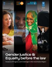 Gender Justice & Equality before the law: Analysis of Progress and Challenges in the Arab States Region cover