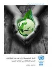 الأطر المؤسسية لإدارة عدد من القطاعات الفرعية للطاقة في البلدان العربية: صحيفة وقائع غلاف