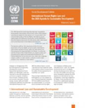 International Human Rights Law and the 2030 Agenda for Sustainable Development: Social Development Bulletin, Vol 6 No. 3 cover