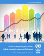 Action Plan on Gender Equality and the Empowerment of Women at the Level of National Institutions: Technical Notes cover (Arabic)