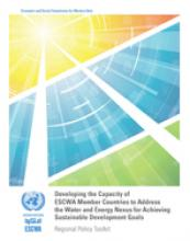 Developing the Capacity of ESCWA Member Countries to Address the Water and Energy Nexus for Achieving Sustainable Development Goals: Regional Policy Toolkit cover