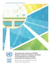 Water-Energy Nexus Operational Toolkit: Renewable Energy Module cover