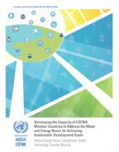 Water-Energy Nexus Operational Toolkit: Technology Transfer Module cover