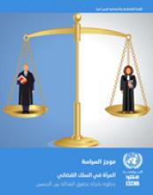 المرأة في السلك القضائي: خطوة باتجاه تحقيق العدالة بين الجنسين غلاف