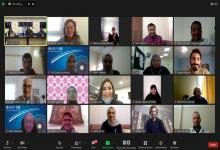 group photo of young people participating in the virtual Arab youth dialogue