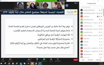 صورة من العرض تتناول التحديات في مواجهة الجائحة في مصر