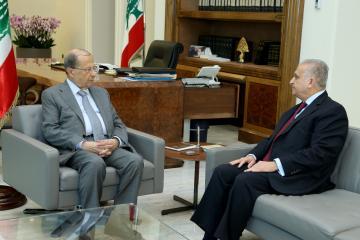 اجتماع الأمين التنفيذي مع رئيس الجمهورية اللبناني