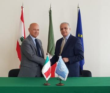 ESCWA ES with Italian Ambassador