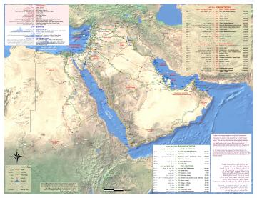 ESCWA map of proposed corridors in Arab world