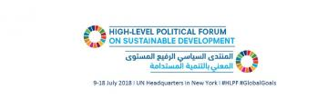 HLPF title in English and Arabic
