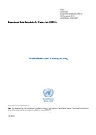 Multidimensional Poverty Profile: Iraq cover