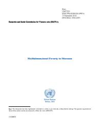 Multidimensional Poverty Profile: Morocco cover