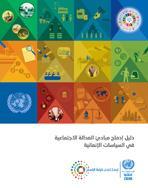 دليل إدماج مبادئ العدالة الاجتماعية في السياسات الإنمائية غلاف