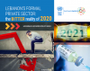 """cover of policy brief: man sitting on chair face in his hands, dollar bill with 2021 on it, needle with the word """"vaccine"""" written on it"""